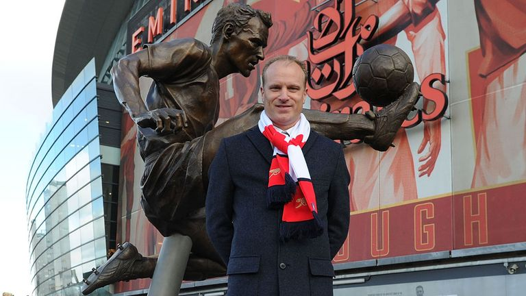 Dennis Bergkamp: Arsenal legend with his statue
