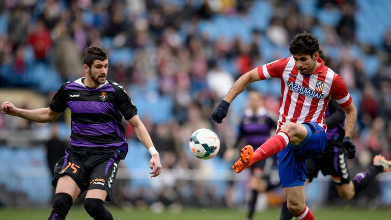 Diego Costa fires the ball home for Atletico Madrid
