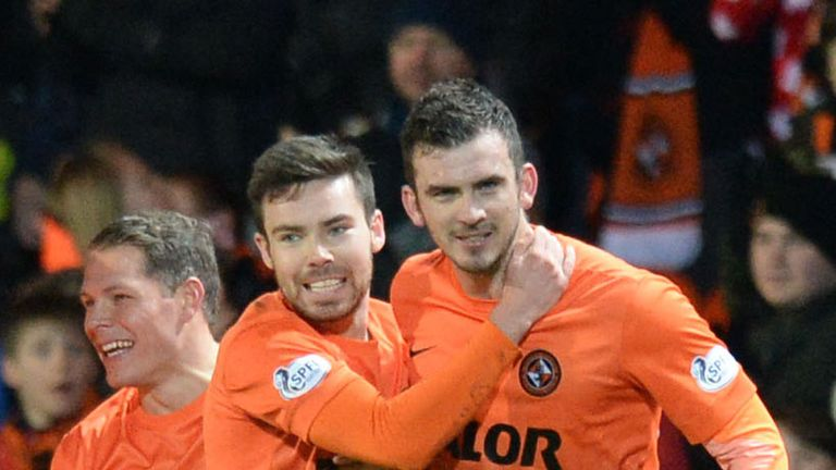 Gavin Gunning: Scored twice for Dundee United against Motherwell