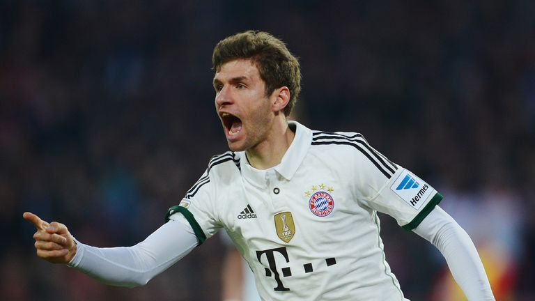 Thomas Muller: Scored hat-trick in Bayern Munich win