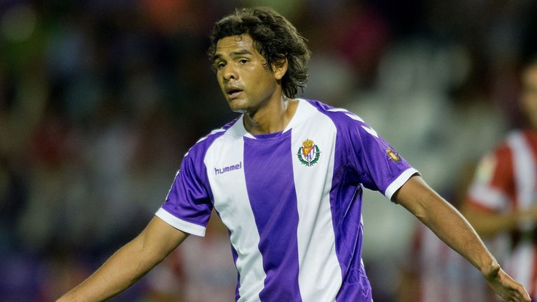 Humberto Osorio: Scored twice for Real Valladolid