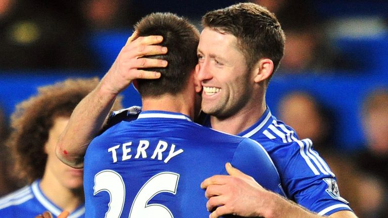 Terry and Cahill: David Jones says they will win Chelsea the title