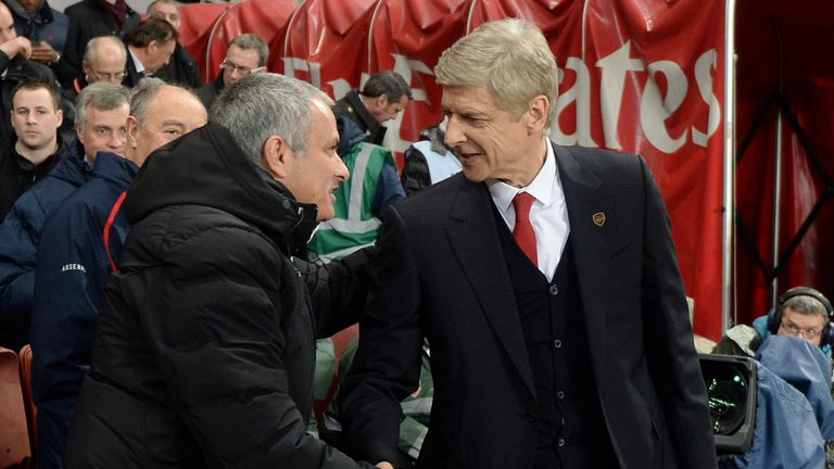 Jose Mourinho and Arsene Wenger: No love lost between the two managers