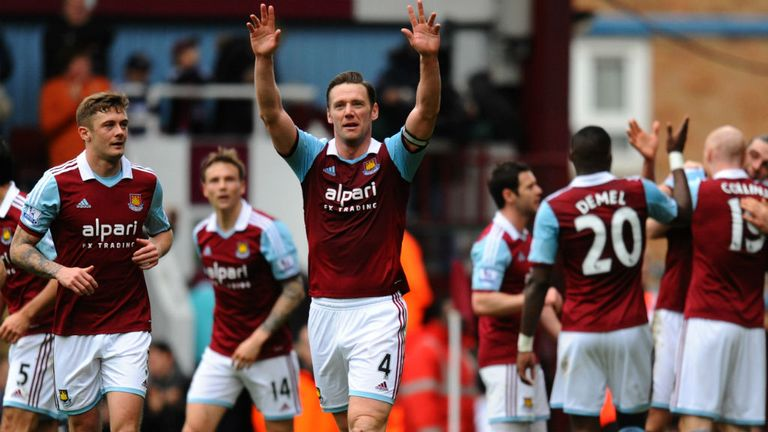 Kevin Nolan: Celebrates scoring West Ham's second goal
