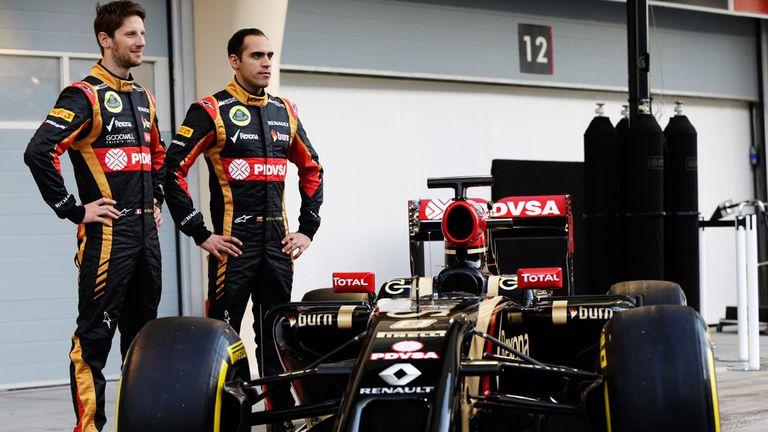 Romain Grosjean and Pastor Maldonado with the E22