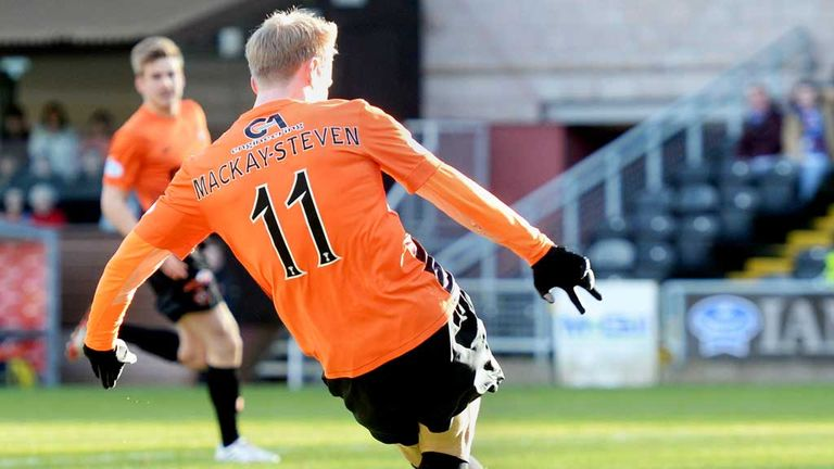 Gary Mackay-Steven: Gives Dundee United the lead against Kilmarnock
