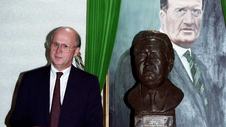 Fergus McCann: With bust of Celtic legend Jock Stein