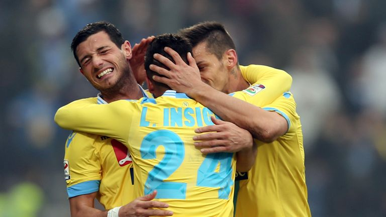 Napoli celebrate during their victory