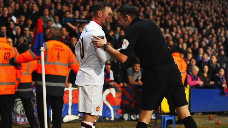 Wayne Rooney: Manchester United striker during Saturday's clash at Selhurst Park