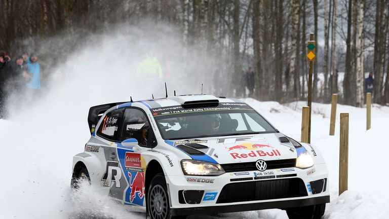 Sebastien Ogier takes a 5.8-second lead into the second full day