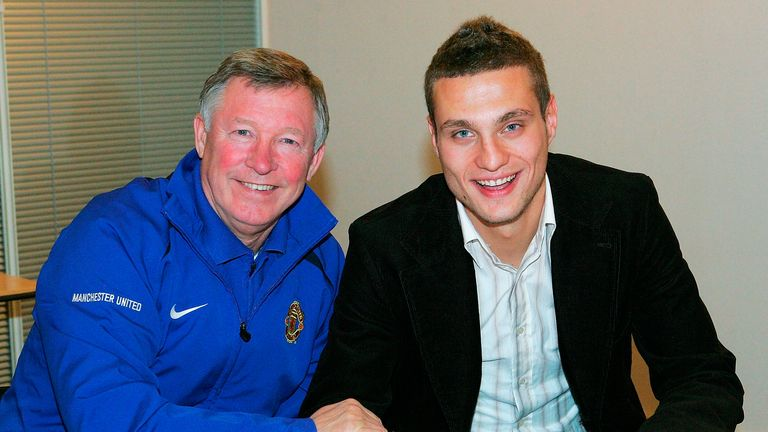 Nemanja Vidic: Signed for United on Christmas Day 2005