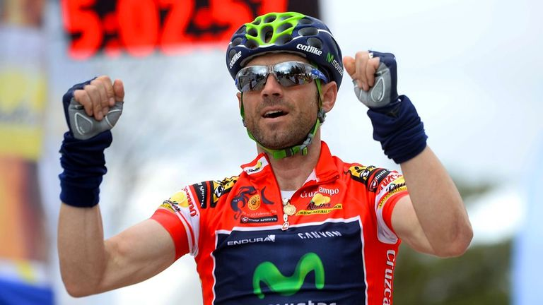 Alejandro Valverde extended his overall lead to 20 seconds