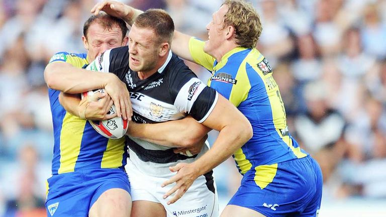 Hull forward Liam Watts (centre) faces a month out of action