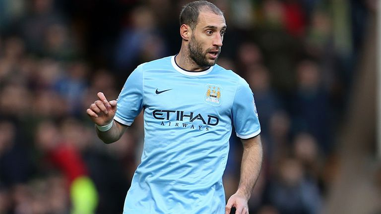 Pablo Zabaleta: Will relish visit of Barcelona