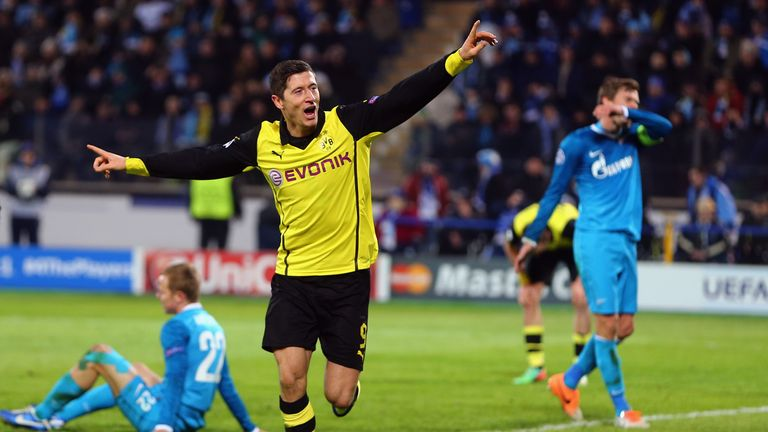 Robert Lewandowski: Scored two goals against Zenit