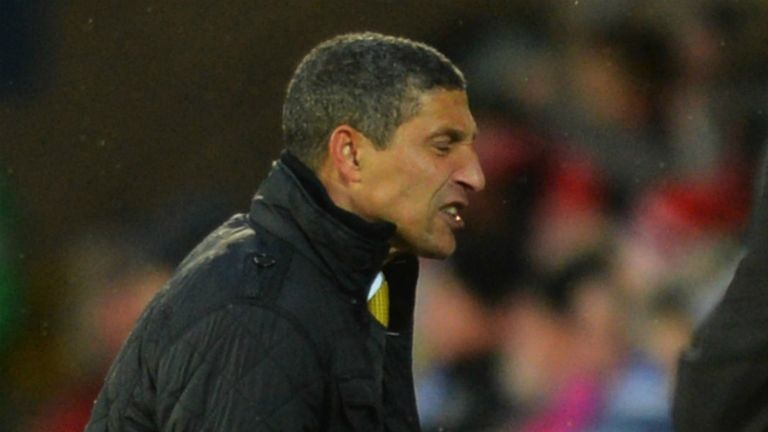 Chris Hughton: Frustrated by Norwich's lack of potency up front