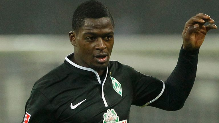 Assani Lukimya: Lasted less than half an hour for Werder Bremen