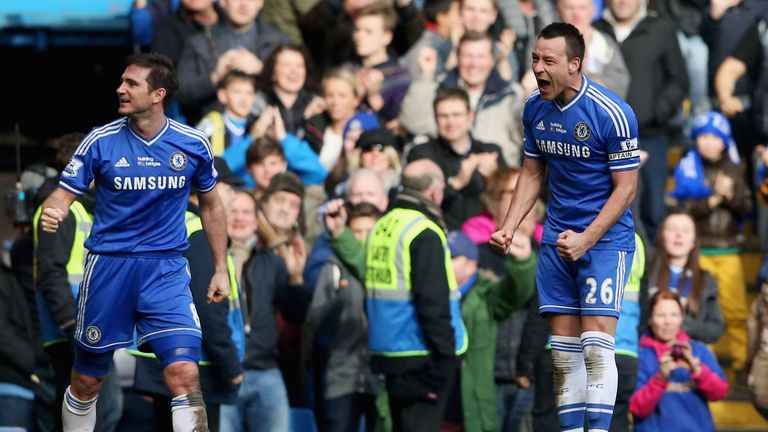 John Terry: Chelsea captain celebrates his last-gasp winner against Everton