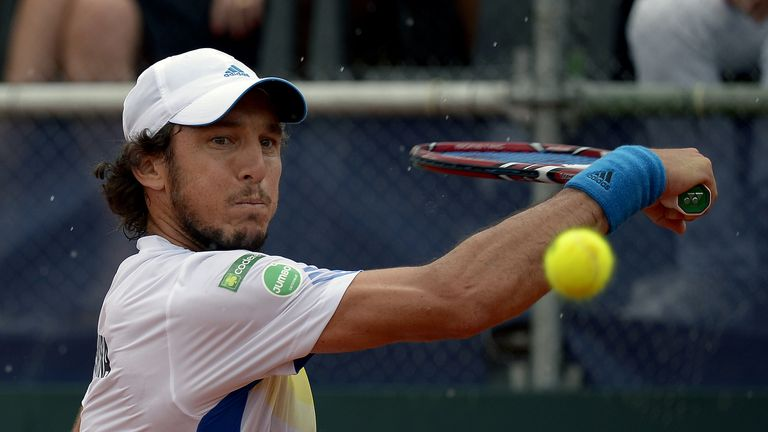 Argentina's tennis player Juan Monaco into last eight