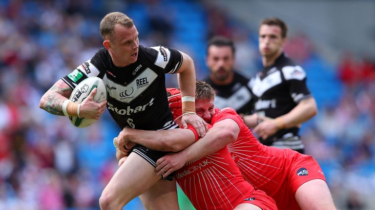 Kevin Brown: Widnes captain led the way with a hat-trick