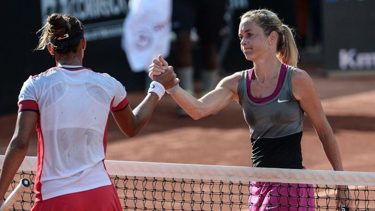 Klara Zakopalova (right): Czech has lost 11 finals in a row on WTA Tour