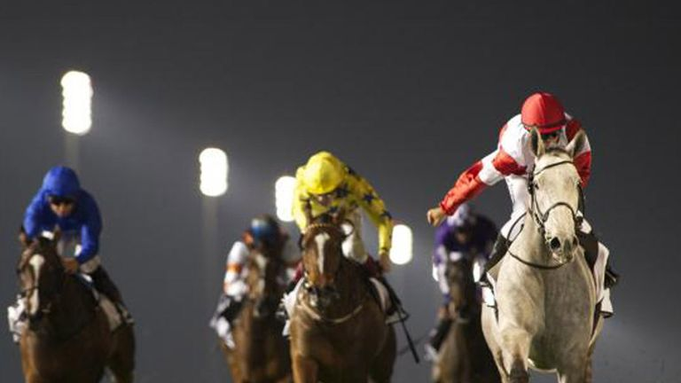 L'Amour De Ma Vie wins with Certify (left) well beaten off (Dubai Racing Club/Andrew Watkins)