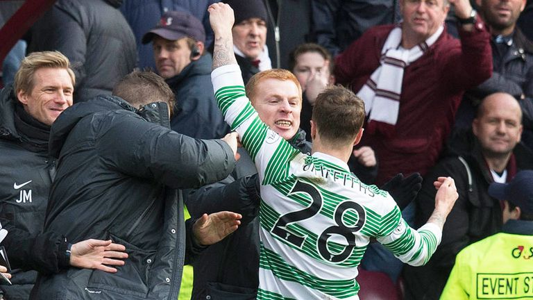 Neil Lennon: Celtic boss believes Leigh Griffths has settled in well