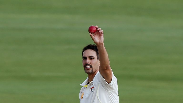 Mitchell Johnson: Australia seamer celebrates his five-wicket haul on day four