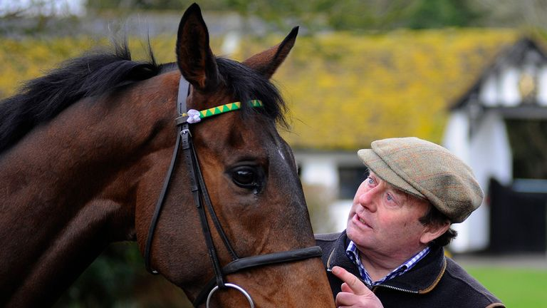 Nicky Henderson with My Tent Or Yours last week