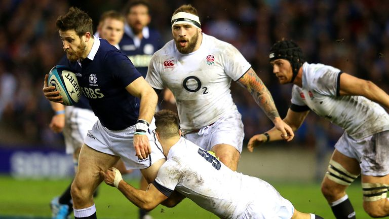 Tommy Seymour: Launches a rare Scotland attack