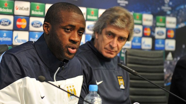 Pellegrini: could look to Toure as key player against Barcelona
