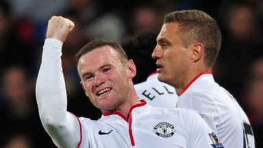 Wayne Rooney: Celebrates his goal at Selhurst Park