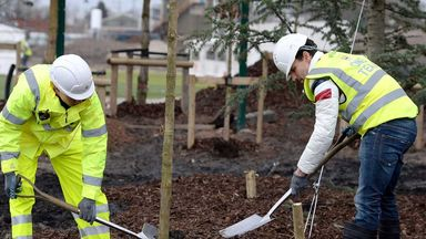 Jesus Navas: Spaniard plants trees at City's new training ground