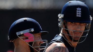 Kevin Pietersen (R): Has hit back at Matt Prior for his comments in Dubai