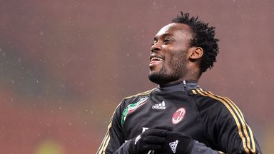 Michael Essien: AC Milan midfielder backing former club Chelsea for glory
