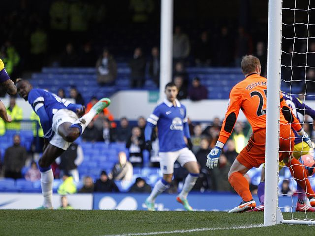 Everton's Lacina Traore made an immediate impact on the match