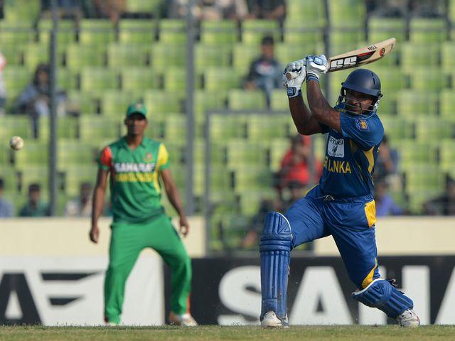 Kumar Sangakkara slammed 128 for Sri Lanka