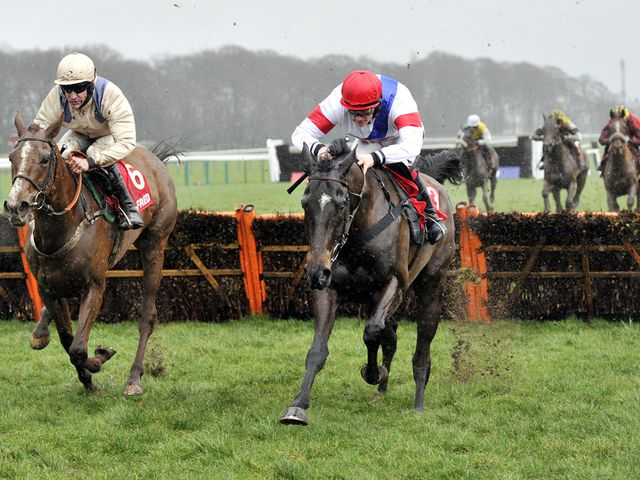 Abracadra Sivola (right) gets the better of his rivals