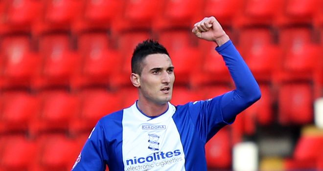 Federico Macheda: Bagged a brace for Birmingham