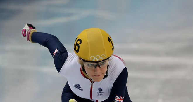 Elise Christie: won gold on Sunday in the 1500m at the British Short-Track Championships