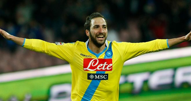Celebration time for Gonzalo Higuain