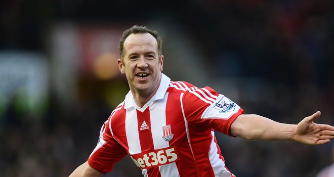 Charlie Adam: Celebrates his spectacular winner against United