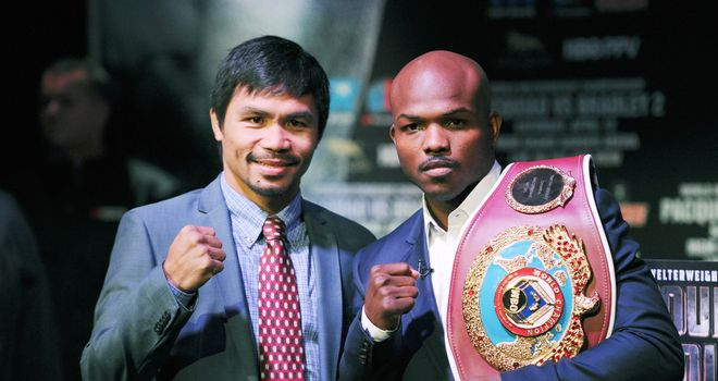 Manny Pacquiao (left): Looking to set the record straight in his rematch with Timothy Bradley