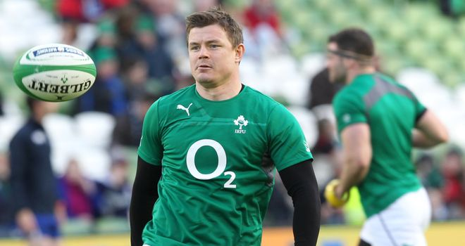 Brian O'Driscoll: Will equal George Gregan's cap record on Saturday