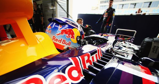 Ricciardo at the wheel of the RB10