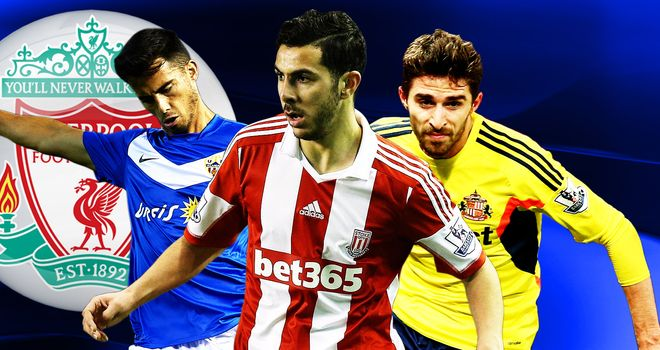 Liverpool's Suso, Assaidi & Borini are doing well out on loan (Graphic by Thomas McClure)