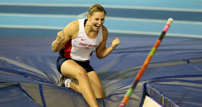 Holly Bleasdale: Won the British Indoor pole vault title and secured a world lead to boot