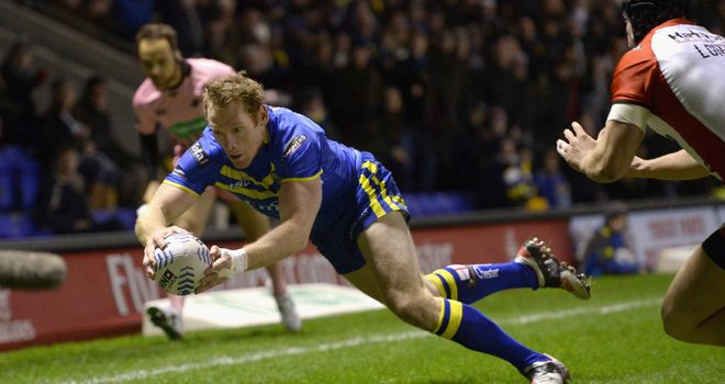 Joel Monaghan: scored two of Warrington's six tries