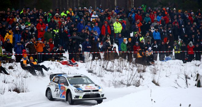 Jari-Matti Latvala: Raced into the overall lead on day two of the WRC Sweden