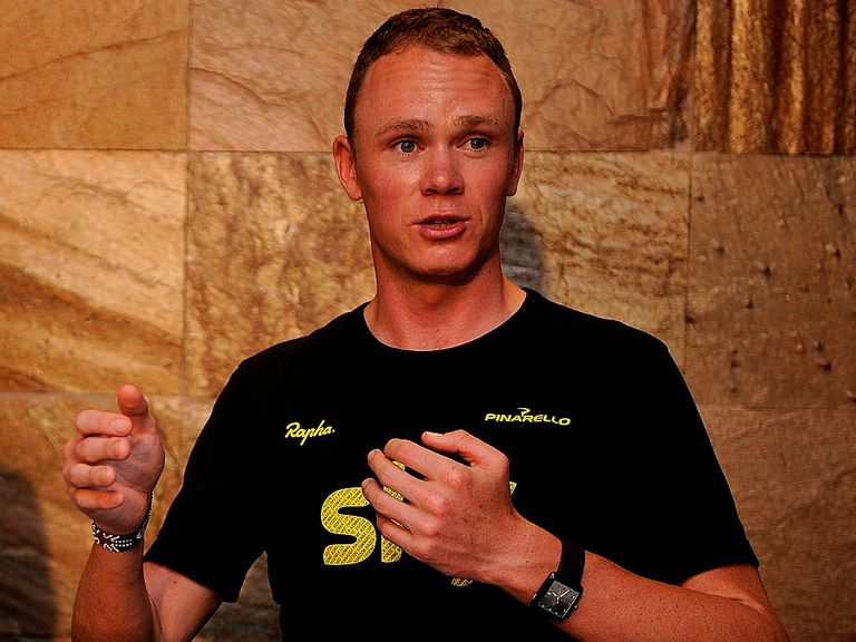 Chris Froome: Arrived in Harrogate on Wednesday